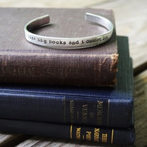 I Like Big Books And I Cannot Lie Cuff Bracelet