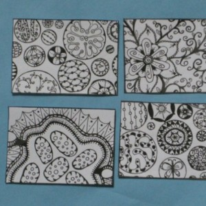 Coloring Aceo Artist Trading Cards - Set of 16 - Pack #2