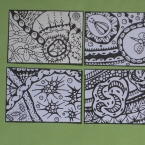 Coloring Aceo Artist Trading Cards - Set of 16 - Pack #3