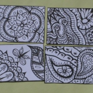 Coloring Aceo Artist Trading Cards - Set of 16 - Pack #4