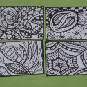 Coloring Aceo Artist Trading Cards - Set of 16 - Pack #6
