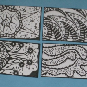 Coloring Aceo Artist Trading Cards - Set of 16 - Pack #8