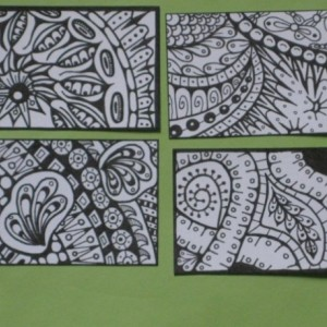 Coloring Aceo Artist Trading Cards - Set of 16 - Pack #9