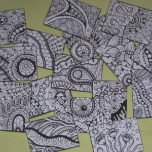 Coloring Artist Trading Cards - Set of 16 - Pack #10