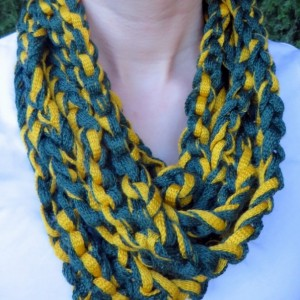 Ducks/Packers Rope Scarf
