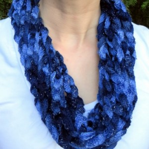 Blue Rope Scarf