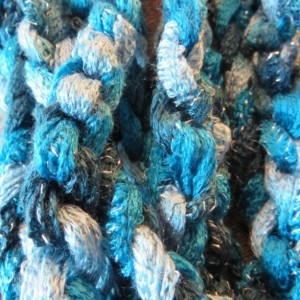 Teal rope scarf