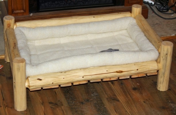 X Large Handmade Rustic Log Pet Bed Free Us Shipping