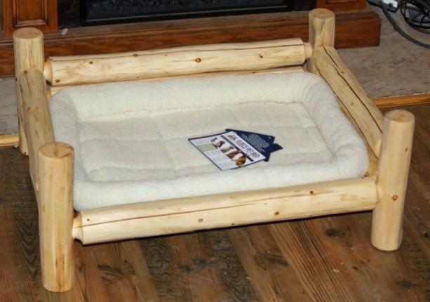 X-Large Handmade Rustic Log Pet Bed - FREE US SHIPPING