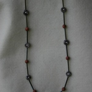 Goldstone & Dalmatian Jasper Necklace