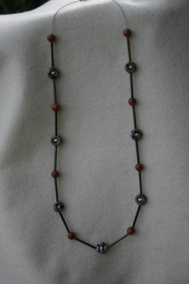 Goldstone & Dalmatian Jasper Necklace
