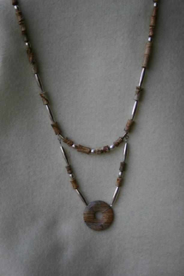 Picture Jasper & Silver Necklace