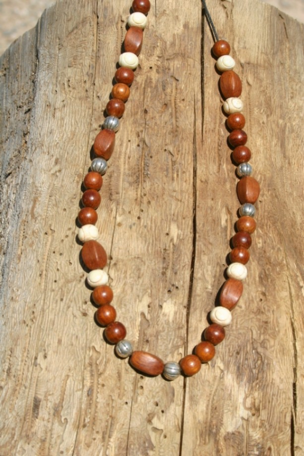 Twisted Wood Necklace