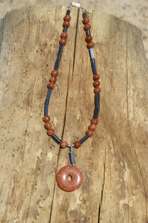 Hemalyke & Goldstone Pendent Necklace