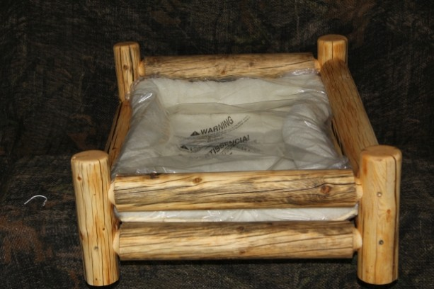 X Large Handmade Rustic Log Pet Bed Free Us Shipping
