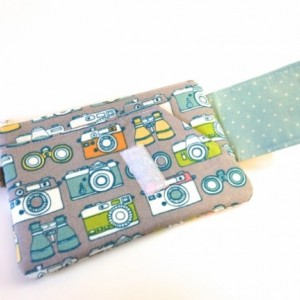 Cell Phone Wristlet in Retro Cameras