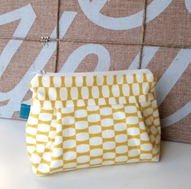 Makeup Bag in Twenty Three Mustard