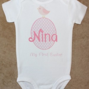 Easter Egg Pink Bird bodysuit