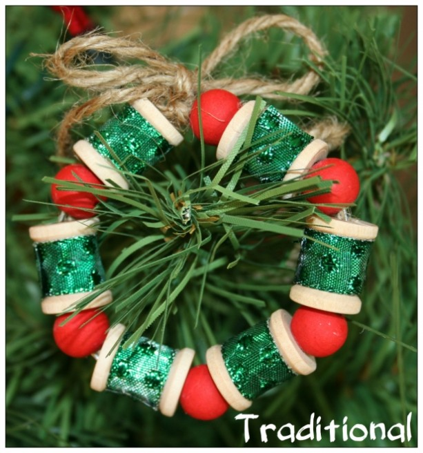 hot gift sale   set of 3  wooden mini wreath spool ornaments for
