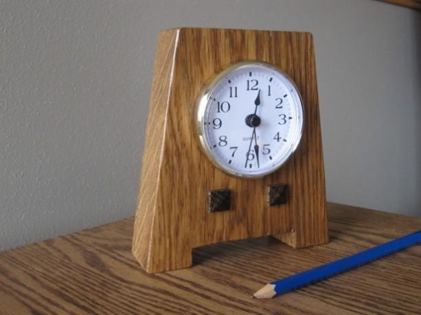 Mission Style Shelf Clock