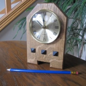 Mission Style Shelf Clock