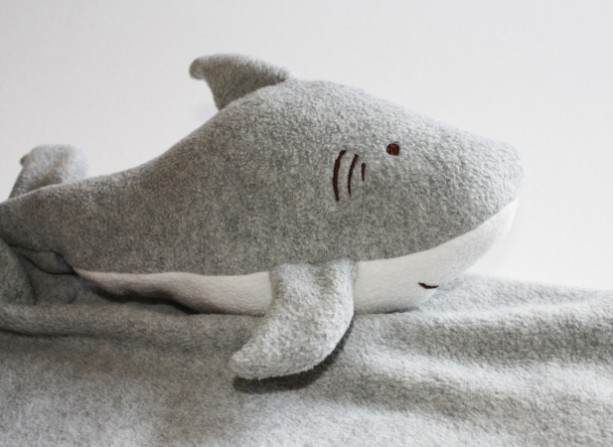 Shark Security Blanket Lovey Blanket Satin Baby Blanket Aftcra