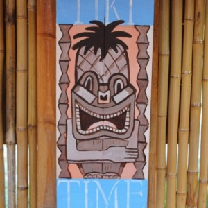 Tiki Time Outdoor Sign