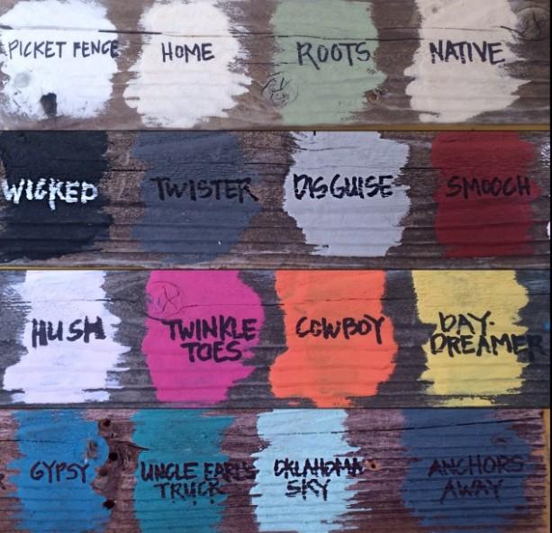 Yellow Tree Chalk Style Paint