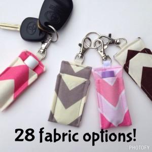 Set of 2 chapstick keychains