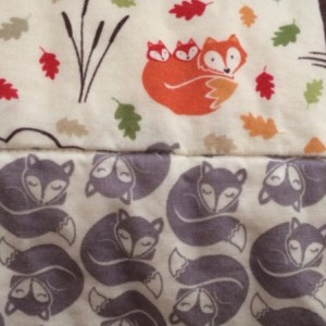 Baby Crib Quilt, Toddler Quilt, Play Quilt, Fox & Friends fabrics by Lewis & Irene