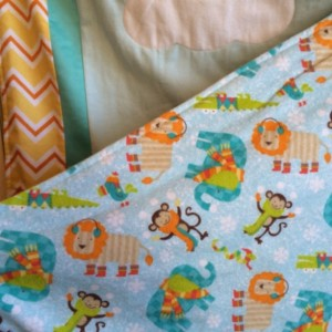 Baby Blanket, Elephant, Turtle, Bird, Monkey and Lions