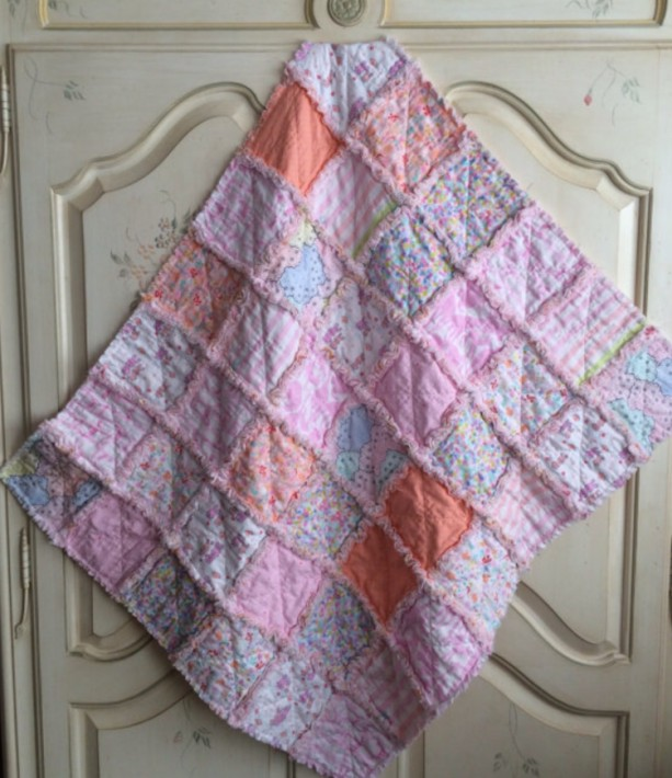 "Baby Quilt, Crib Quilt, Car Seat Quilt, Lap Quilt, ""Oh Baby"""