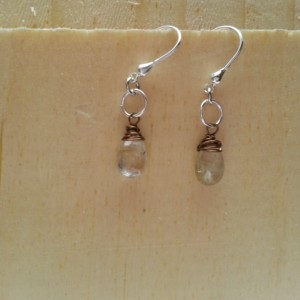 Rutilated Quartz Briolette Drop Earring