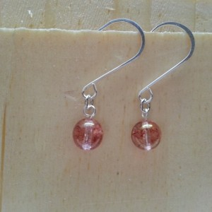 Red Spackle Crystal Earring