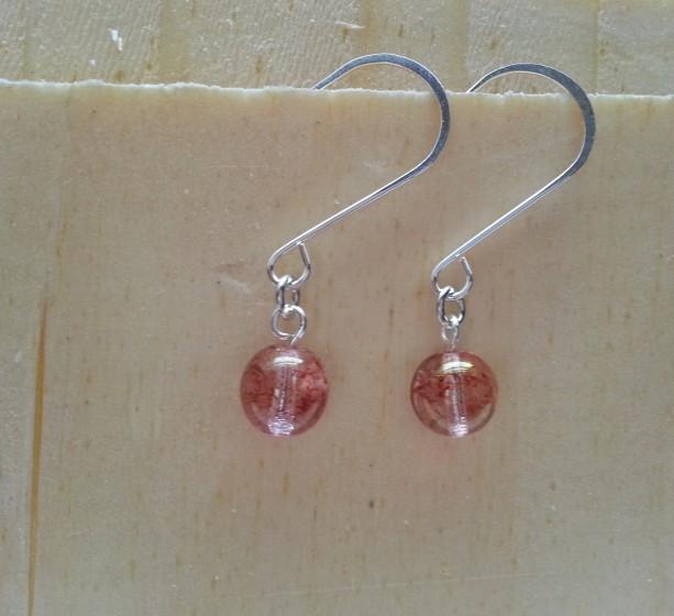 Red Spackle Crystal Earring