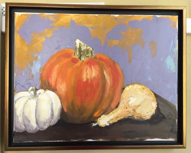 Still Life - Gourd with Pumpkins