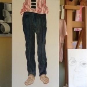 Original Oil Painting - David's Pants