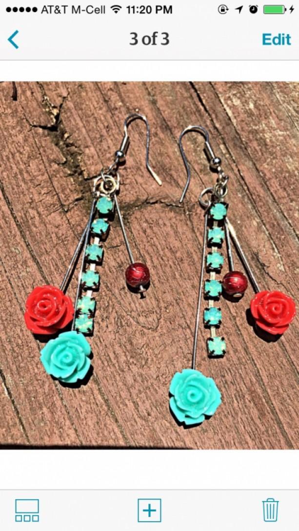 Boho Vintage Inspired Dangle Earrings
