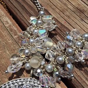 Chanel Set Pendant Crystal Necklace