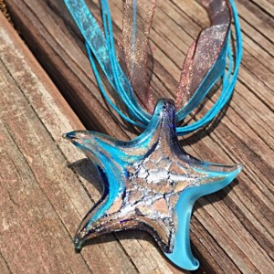 Lamp work Starfish Necklace