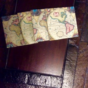 Old World Map Coasters