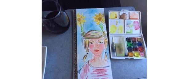 Watercolor Smalls, Garden Nymph