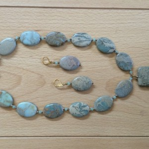Jasper Pendant Necklet and Matching Earings
