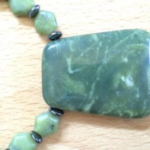 Sea Green Pendant and Earring Set