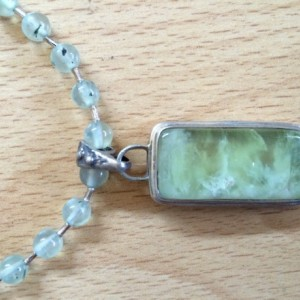 Soft Green Prehinite Neckless Set