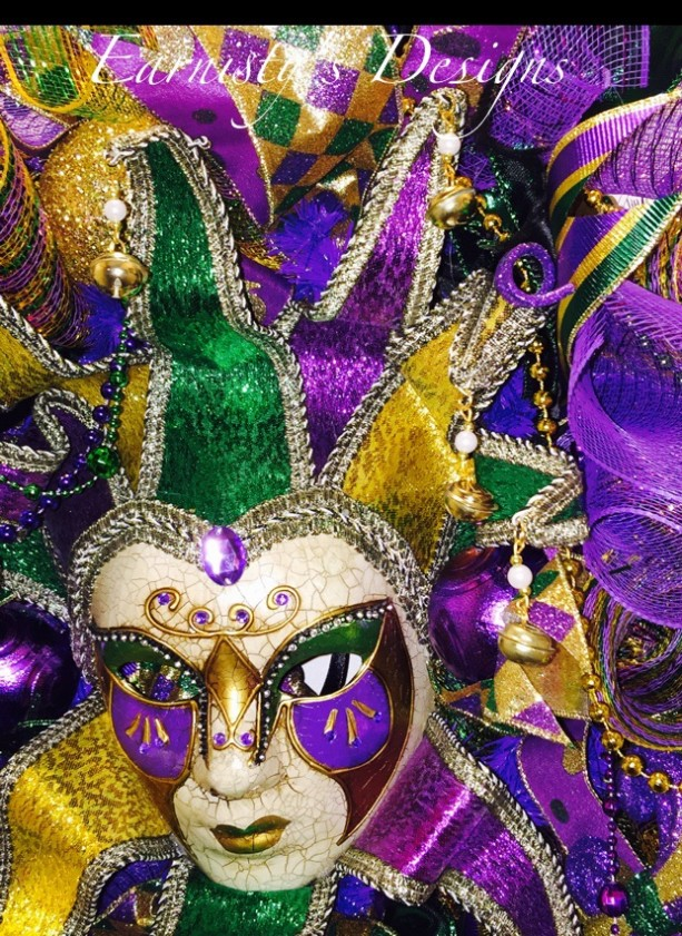 "24"" WhimsiCal Mardi Gras Wreath"