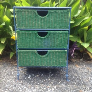 Hand Painted Wicker Storage Chest