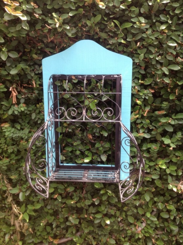 Hand Painted Vintage Wire Cage