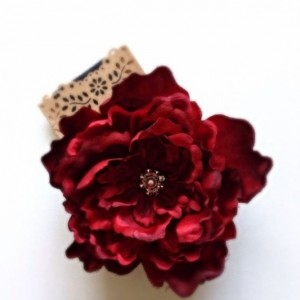 BIG Red Silk Flower Hair Accessory