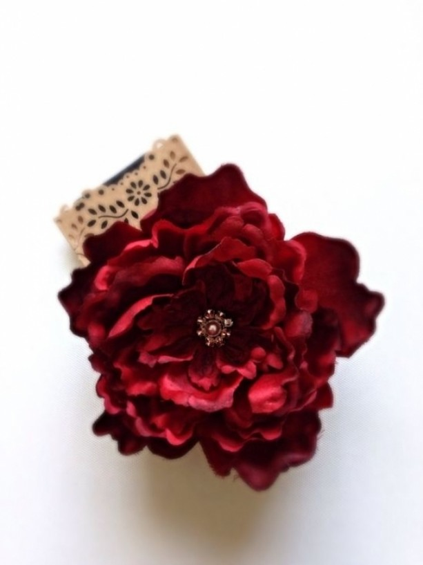 Big red silk flower hair accessory aftcra big red silk flower hair accessory mightylinksfo